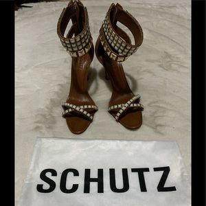 SCHUTZ Kombi Wood Stiletto size 7.5 NEW